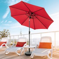 8.86ft Sunshade Terrasse Regenschirm Aluminium Canopy Shelter Yard Pool Markt Fade Resistant 2.7m Sonnenschirm Strand Regenschirme Fade Resistant