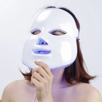 7 색 PDT 라이트 테라피 LED 페이셜 마스크 및 목 피부 회춘 LED 얼굴 마스크 마이크로 류 개인 가정용 LED 마스크