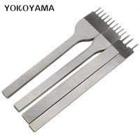 Yokoyama 3mm4mm Кожаный ремесленный инструмент отверстия нормы для шнуров Шелловый удар 1/2/3/4 Prong кожаный зубил отверстие пробива шить инструменты1