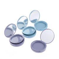 3D False Eyelash Packaging Box Eyelashes Lash Case Empty Eyelashes Packaging Circle Box with Mirror Extension 1PCS