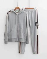 2019 fallen neue mode meens designer grau mit kapuze trainingsanzüge ~ US-größe Sweatsuit ~ Tops Herren Training Jogging Sweat Track Anzüge