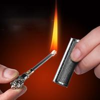 Personnalité de la mode de haute qualité Match Kérosène briquet créatif métal étanche de la cigarette d'extérieur étanche compact et durable YJ26
