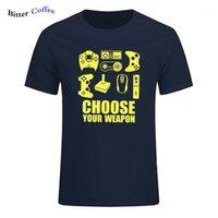 T-shirts hommes T-shirt hommes d'été Choisissez votre joueur T-shirt Vidéo Contrôleur de jeu Vidéo TEE Coton Sleeve Sleeve Tshirt 1