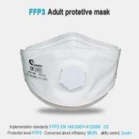 Laianzhi FFP3 Ce قناع الوجه صمام الهواء أقنعة واقية المتاح PM2.5 أقنعة ضارة 99٪ قناع نظافة قناع أغطية الرأس قناع الفم