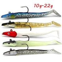 5 Färg Blandade 11cm 10-22g Jigs Mjuka Baits Lures Enkelkrok Fiskehakar Pesca Fiske Tackle Bl_297