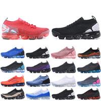 Nike Air Vapormax 2018 2.0 Max Homens Running Shoes triplo preto branco Chaussures Laser laranja Mulheres Homens Trainers zapatos Esportes Tênis