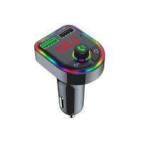 Горячая распродажа F6 автомобильное зарядное устройство Bluetooth 5.0 FM передатчик RGB атмосфера легкий автомобильный комплект MP3-плеер беспроводной громкоговоритель