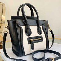 أسود حقيبة crossbody ابتسامة حقيبة الأمتعة الحقيبة السيدات جودة شلهة دلو محفظة جلد طبيعي حقيبة يد عالية الجودة