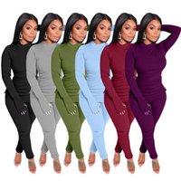 Frau designer kleidung massiv farbe trainingsanzüge warme zwei stück sätze modisch freizeit sportanzug home komfortable body bood puits