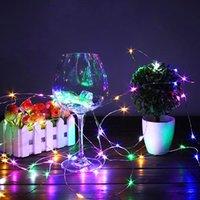 Alta qualità 20 LED Mini Bottle Stopper Lampada String Bar String Bar Decoration String Light Colorful Light Earth Color Full High Luminosità LED Stringhe