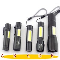 مشاعل مصباح يدافع مصغرة 2 LED الكوز Q5 penlight usb العمل فلاش ضوء الشعلة مصباح البطارية القابلة لإعادة الشحن التخييم linterna عالية power1