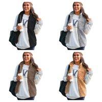 Winter warm Plüsch Weste Jacke Top Damen Pelz Plüsch Reißverschluss Mäntel Berber Sherpa Weste Dame Frauen Sleeveless Fleece Flaumy Outwear E123102