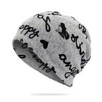 Bonnet / Crâne Caps Casquettes 2021 Chaud Autum Coton Coton Letter Coton Chapeau Dames Bonnet Écharpe 2 Utilisez les filles pour hommes Gorros crullies HT44