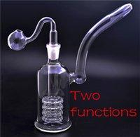 8 дюймов Mobius Beaker Bong Толстые стеклянные водяные бонги Heady DAB нефтяные установки двойной стерео матрицы PERC с 14 мм чаша и стеклянный масляный горелка