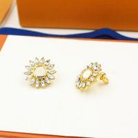 Pendientes de diseñador Pendientes de perla de la aleación de la aleación de la moda de la moda con los pendientes exagerados de las estrellas de mar con la caja para el regalo