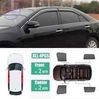 Schwarzes Netzgarn für Toyota Camry XV50 XV70 2012-2018 Seitenfenster magnetische Sonnenschutz UV-Schutz Ray Blocking Mesh Visier