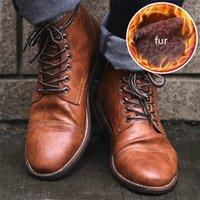 Masorini-Männer PU-Leder-Lace-up-Männer-Schuhe Hohe Qualität Männer Vintage britische Militärstiefel Herbst Winter plus Größe 47 48 BRM-060 LJ201214
