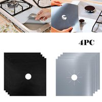 Esteras almohadillas 4 unids protectores de estufa de gases reutilizables cubiertas de quemadores de cocina alfombra de cocina protector de estatura de la marca de alta calidad