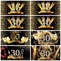 Feliz 50 40 30 18 16ª festa de aniversário Dots Poster Poster Fotografia Photography Backdrop PhotoCall Photo Studio1