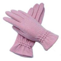 Vente en gros - Nouvelle laine d'hiver en bois en bois Gardez des gants de femme à la mode élastique élastique à tricoter avec écran tactile