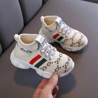 2021 Bebek Rahat Ayakkabılar Moda Toddler Çocuklar Bebek Kız Erkek Örgü Yumuşak Rahat Spor Ayakkabı Sneakers Kaymaz Çocuk Ayakkabı C0120