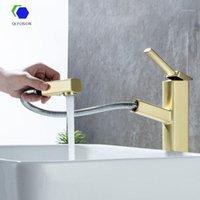 Banyo Lavabo Bataryaları QCFoison Altın Havzası Musluk Tuvalet Lüks Beyaz Duş El Lavabo Mikser Su Tap1