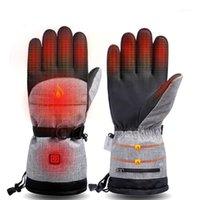 Gants de ski 2021 Chauffage électrique Snowmbile Snowboard Snowboard Snowboard Mitaines coupe-vent Évolmes Hommes Femmes Snowboarding Ski Gloves1