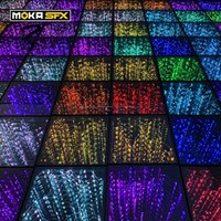 25 adet / grup LED Dans Zemin Tel 3D Dans Zemin SD Kontrol Işık Up Yer Karo Disko DJ Parti Düğün Için Işıkları