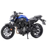 MAISTO 1:18 Yamaha MT07 Static Die Veículos Elenco Collectible Hobbies Modelo Modelo Brinquedos Y1130