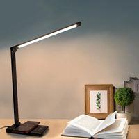 LED 데스크 램프 USB 눈 보호 테이블 램프 5 침대 침대 옆에 침실에 대 한 디 블 레벨 터치 야간 조명 Lampara Escritorio