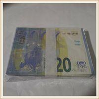 Kopieren realistischer Stütze US Euro Kinderspiel Spiel am meisten oder Geldfamilie 20 Papier Spielzeug Banknote 100pcs / Pack TQWKS