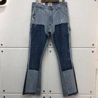 Slim-Fit Gallery Departamento Stretch Denim Calças Danificar Hole Afligido Jean Cowboy Jean Calças Homens Baggy Jeans Homens Roupas