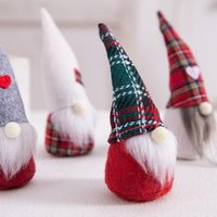 Valentines Day Gifts Gnomes Love Plaid Faceless Doll Valentines Day Decorations Shop Window Decoration Wedding Supplies PPD4398