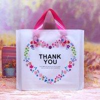 50 шт. Прекрасно спасибо Подарочная сумка Утолщенная пластиковая свадьба одолжение