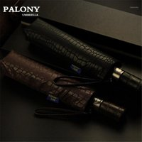 Palony Automatic Plegable Paraguas Hombres Calidad Lluvia A Prueba Viento UV Grandes Paraguas Stripe Masculino Parapluie 2 Colores RECOMENDIDO1