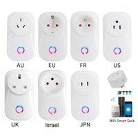 H96 2020 Tuya Cloud 10A 16a 16a Israele WiFi Smart Presa Smart Plug Wireless Lavoro con Alexa Google Assistant Iftsmart Life App1