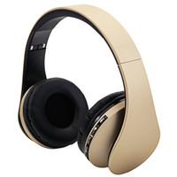 HY-811 Cuffia pieghevole FM Stereo MP3 Lettore Bluetooth Bluetooth Auricolare Champagne Colore Sport Cuffie Spedizione veloce all'ingrosso