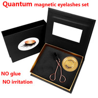 Hot Quantum magnetic eyelashes set False eyelashes set NO gl...