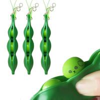 Декомпрессионные Игрушки Edamame Squishy Squeeze Peas Beans Bears Kildchain Анти стресс Взрослый Игрушка Резина Резиновые Мальчики Партия Подарок Fidget Toys