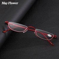 النظارات الشمسية قد زهرة القط العين نظارات القراءة النظارات المعدنية نصف الإطار السترة النظافة فائقة ضوء النظارات النظافة الصغيرة بدون انقطاع غير مستدل للجنسين