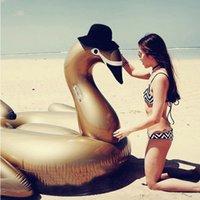 130cm inflável gigante gigante gigante pool de cisne flutua adultos passeio-on cisne nadada anel colchão verão feriado férias divertimento brinquedos boia piscina j1210