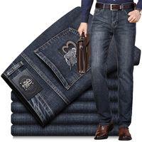 Neue Herren Jeans Slim Elastic B Wort Marke Herbst Winter Mode Business Hose Klassische Stil Baumwolle Jeans Denim Hosen 201120