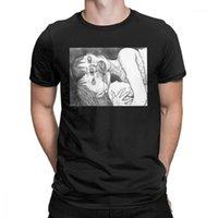Junji Ito Anime Creepy Manga Estranho Japão Horror Engraçado Camiseta Mangas Curtas do Homem Roupas Nova Chegada Tees de Algodão O Pescoço T-shirt1