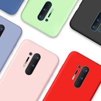 OnePlus 8 Proケースオリジナルの液体シリコーンソフトフォンバックカバーケースOnePlus Nord 7T 7 Pro 6T 6 1プラス7 T COQUE