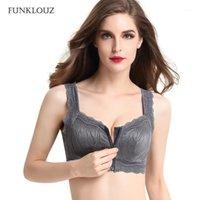 حمالات الصدر Funklouz الجبهة سستة اللاسلكية الدانتيل الجيب الصدرية ل بديع الثدي المرأة استئصال الثدي bras1