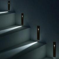 Gömme Kapalı Su Geçirmez LED Merdiven Işık Dikdörtgen AC100-240 V Kapalı LED Duvar Aplik Aydınlatma Merdiven Step Merdiven Koridor Merdiven Lambası