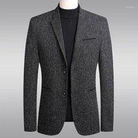 الرجال الدعاوى الحلل الشتاء الرجال البدلة سترة الأعمال عارضة سترة معطف اللباس زي أوم الصلبة سليم صالح عالية الجودة 1