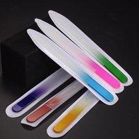 6pcs / set di unghie del chiodo di cristallo file di lucidatura di cristallo Vetro nail art file manicure per le donne ragazza professionale p qylrab