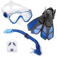 Iniciante de mergulho de snorkeling infantil Iniciante treinamento de natação de mergulho sapatos de máscara infantil Tubo de respiração à prova d 'água impermeável