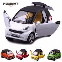 Hommat 1:24 Simulation Smart fortwo Legierung Metall Diecast Fahrzeug Spielzeug Auto Modell Metall Kinder Geschenk Auto Spielzeug für Kinder Zurück Zurück LJ200930